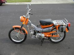 1973 Honda Trail 90. Always wanted an orange one of these.