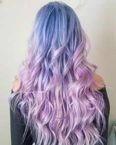 78 ombre hair looks that you'll love 68 Lavender Hair Colors, Hair Color Purple, Hair Dye Colors, Cool Hair Color, Blue And Pink Hair, Costume Noir, Arctic Fox Hair Color, Semi Permanent Hair Color, Rides Front