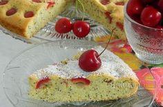 Čerešňový koláč (bublanina) s makom