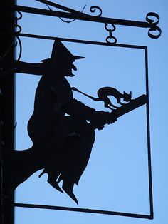 Witch shop sign In Burley by Martin O'neill ~ I have been here many a time