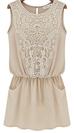 Embroidery Detail Sleeveless Wrap Chiffon Dress