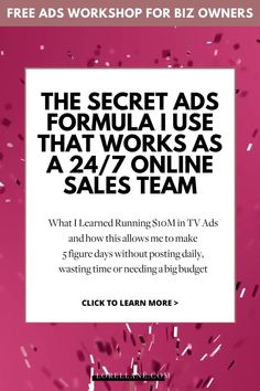 This free Facebook Ads workshop is perfect for business coaches, photography business owners, dropshipping business, fitness coaches, real estate agents, and social media influencers who are ready to learn the formula that works as a 24/7 online sales team brings high-quality leads to their sales funnel! Learn how to grow your business without more hustle but more ease with Facebook Ads marketing