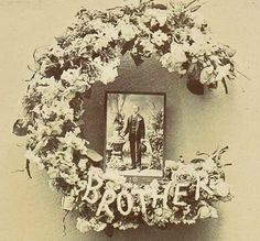 A Land of Deepest Shade: Funeral Flowers Cabinet Card Photographs Dad Funeral Flowers, Grave Flowers, Funeral Floral Arrangements, Flower Arrangements, Funeral Tributes, Funeral Memorial, Sympathy Flowers, Floral Letters, Elegant Flowers