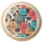 Shop The crowd of cats round shortbread cookie created by panova. Artificial Food Coloring, Beautiful Kittens, Meringue Powder, Beverage Packaging, Chocolate Covered Oreos, Shortbread Cookies, Diy Stuffed Animals, Chocolate Flavors, Pet Gifts