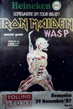 Iron Maiden Somewhere on Tour 86/87 Original Promotional DIGITAL Poster Image