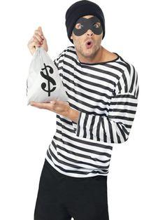 karnevalkostüme männer einbrecher kostüm fassching