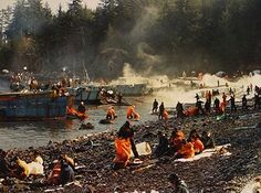 In 1989, an Exxon oil tanker was on its way to California when it hit the Prince William Sound off the coast of Alaska. The tanker spilled as many as 760,000 barrels into the water off the Alaska coastline. Captain Hazelwood was accused of being drunk at the time of the accident and convicted of negligent discharge of oil.
