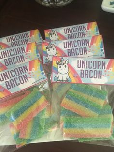 Omg awesome! Unicorn bacon for the party