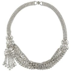 Monet Bridal Couture Crystal Collar Braided Necklace