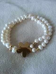 Craft ideas 11167 - Pandahall.com  #pearlbracelet #beadedbracelet #pandahall