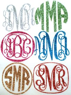Glitter Heat Transfer Monogram With this glitter heat transfer vinyl and a hot iron you can transform any item...sweats, hoodies, jackets, laptop sleeves, onesies, aprons, towels, pillow cases, the possibilities are endless! Take your favorite t-shirt and make it new again with a little bling!  The vinyl glitter is premium quality. The glitter is embedded into the vinyl which means no glitter all over the place! Vinyl is extremely durable and will last wash after wash.