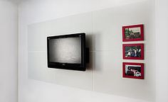 Magnektik decorative metal panels. Strong enough to hold the TV