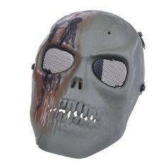 Army Airsoft Protect Full Face Skeleton Skull Mask Game Face Mask by Neewer. $10.63. * Very durable and hard to break * Well protection foam padded inside * Adjustable strap for fitting * Eco-friendly, poison free and odorless * With vivid death-head bones and teeth figures * Metal mesh eye shield won't affect sighting sense * Perfect for airsoft, hunting, war game and military use  Package contents:  1x Green Skeleton Mask