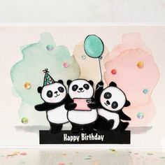 """Gefällt 6 Mal, 2 Kommentare - Card Making, Stampin' Up! (@stampin_carolynbennie) auf Instagram: """"Party Pandas  from Stampin' Up! - Sneak Peek from the upcoming 2018 Sale-A-Bration Catalogue. See…"""""""