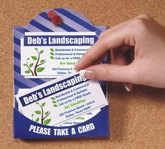 Business Card Marketing - Pin your cards up for real