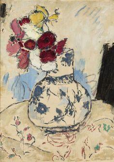 Kwiaty w wazonie - Tadeusz Makowski