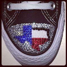 Texas! #texas #texasstate #texasgirl #texas🇨🇱 #texaspride #customshoes #trickedkicks