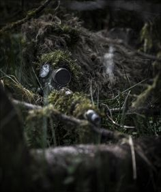 A sniper from 1 Rifles in position ready to fire. Riflemen from The 1st Battalion The Rifles (1 Rifles) conducting a live fire battle exercise at Otterburn. Photographer Lance Corporal Thomas Evans; Crown copyright.