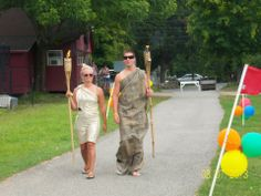 Summer Camp theme day ideas: Torch Bearers-At Rosamrins we have an opening ceremony where we use staff members in togas as our torch bearers. Summer Camp Themes, Theme Days, Camping Theme, Opening Ceremony, Summer 2014, Olympics, This Is Us, Togas