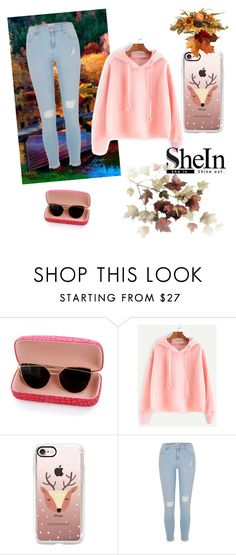 """""""over !"""" by korisnica-kori ❤ liked on Polyvore featuring Casetify, River Island and Nina B"""