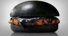 Japan's Burger Kings Sell Black Burgers Colored With Bamboo Charcoal And Squid Ink