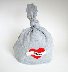 Tattoo Heart Baby Boy Hat - I Heart Mom. $15.00, via Etsy.