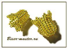 Herringbone/ Ndebele bells or flowers (Russian)  #seed #bead #tutorial