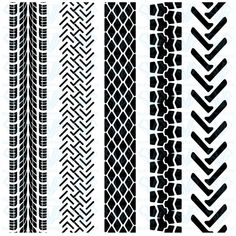 Buy Set of Detailed Tire Prints, Vector Illustration by aarrows on GraphicRiver. Set of detailed tire prints, vector illustration