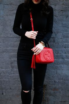 Gucci Disco Bag in red