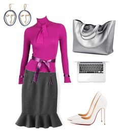 """""""Business woman V"""" by oespinal on Polyvore featuring moda, Karl Lagerfeld, Christian Louboutin y MANGO"""