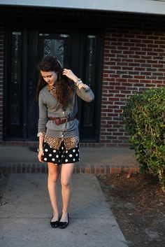 Dress and Sweater: F21, Shoes: Target, Shirt: c/o Karen Kane, Bow: DIY, Belt: Thrifted, Necklace: Sparkle, Jewelry: c/o Mimi's, F21