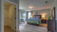Goodall Homes @ Fairvue Plantation. Interior design by ShopGirl. Guest bedroom
