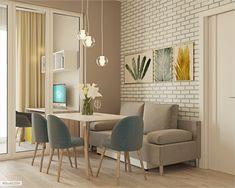 Дизайн проект маленькой квартиры в Москве | Студия LESH Kitchen Room Design, Interior Design Kitchen, Kitchen Decor, Modern Stair Railing, Modern Stairs, Loft, Cozy House, Apartment Living, Living Room Designs