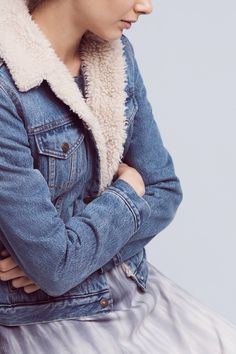 Levi's Denim Sherpa Jacket and more Anthropologie at Anthropologie today. Read customer reviews, discover product details and more.