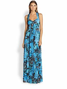Island Style Glamour- Etro Floral-Printed Maxi Dress