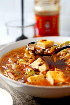 Vegan Mapo Tofu Recipe - Make this mapo tofu at home and never order it again! Mushrooms make this vegan mapo tofu recipe tastier and healthier than the ground meat version. Plus, they crank the level of umami up to 11! tofu recipe| Chinese food recipe |