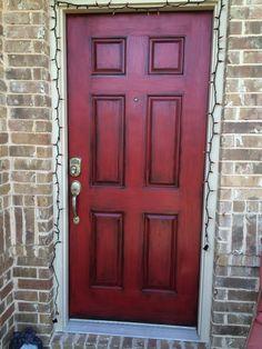 Antiqued front door :)