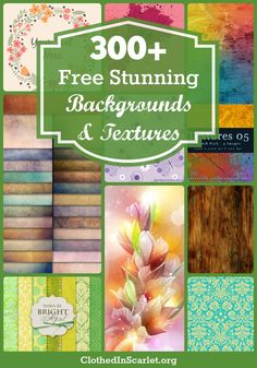Here I am sharing a round up of 300+ FREE Backgrounds and Textures. Great for all your graphic work!!