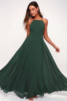 Mythical Kind of Love Dark Green Maxi Dress 6 Backless Maxi Dresses a929934cc22