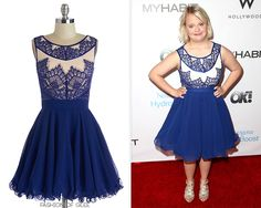 Lauren Potter attends the OK!TV Oscars Viewing Party, Hollywood, February 22, 2015 Modcloth Adore the Dance Floor Dress -