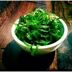 """Seaweed Salad. Awesome in taste and help burn belly fat; especially for those who have a """" box"""" shape (Iodine Deficiency & Thyroid Function)."""