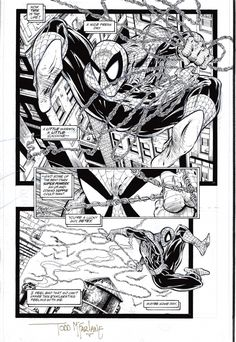 Original Comic Art titled Todd Mcfarlane: Spider-Man located in Rodney 's Todd Mcfarlane Comic Art Gallery Comic Book Pages, Comic Book Artists, Comic Artist, Comic Books Art, Comics Spiderman, Batman, Superman, Colouring Pages, Adult Coloring Pages