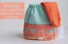 Free tutorial - reversible drawstring bag