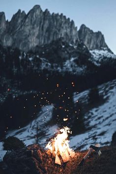"""souhailbog: """" These cold winter days are made for campfires By Hannes Becker 