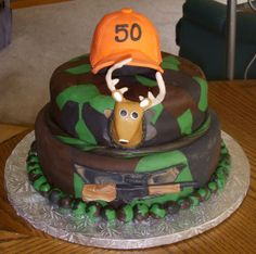 50th Birthday Hunting Cake - A HUGE thank you to Kerry_Kake for the inspiration and ALL the help she gave me!