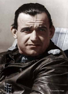 ✠Heinrich Bär, Bär flew more than one thousand combat missions, and fought in all major German theaters of the war, including the Western, Eastern and Mediterranean fronts. On 18 occasions he survived being shot down, and he was credited with 221 aerial victories,16 of which were in a Me-262 jet fighter.  http://en.wikipedia.org/wiki/Heinrich_B%C3%A4r