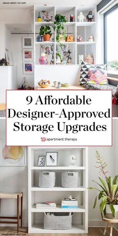 I asked a few interior designers what affordable storage pieces they swear by, and they all had a go-to product that's as good looking as it is useful. Better yet—they're under $100. #storage #storageideas #storagehacks #affordablestorage #storagetips Lid Storage, Storage Hacks, Fabric Storage, Small Storage, Storage Baskets, Storage Solutions, Yellow Storage, Affordable Storage, White Floating Shelves