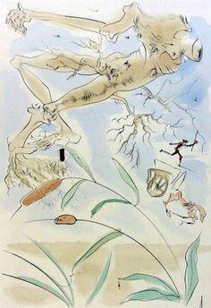 Le Bestiaire De La Fontaine Dalinise, Le Chene Et Le Roseau by Salvador Dali…