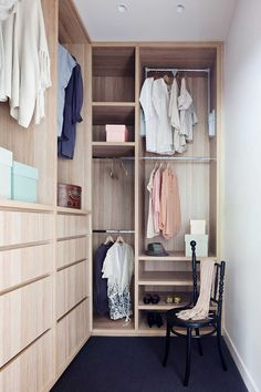 Robson Rak Architects and Made by Cohen – Elwood Gorgeous cabinetry in walk in wardrobe Bedroom Wardrobe, Wardrobe Closet, Built In Wardrobe, Closet Space, Home Bedroom, Small Walk In Wardrobe, Wardrobe Rail, Master Bedroom, Bedrooms