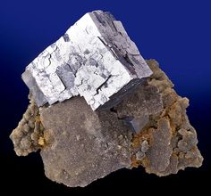 Super lustrous cube of Galena on sparkling drusy matrix! This Galena is pristine and very reflective.   From the Sweetwater Mine, Ellington, Viburnum Trend District, Reynolds Co., Missouri.